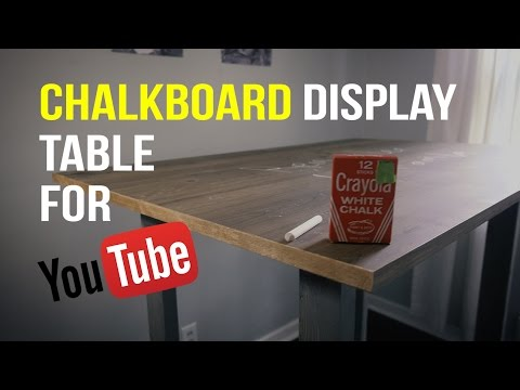 Chalkboard Table for Youtube Videos