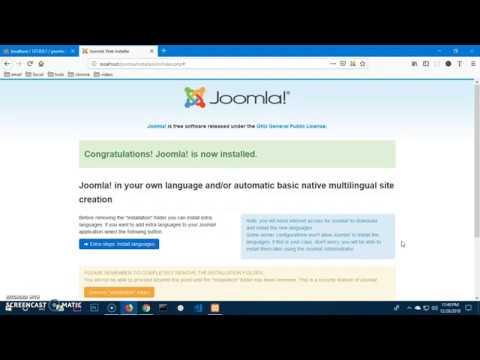 How to install Joomla 3.9.1 on Windows 10