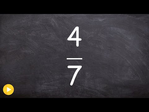 Learn how to convert a fraction to a decimal and percent