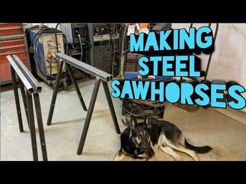 Fabricating Steel Sawhorses