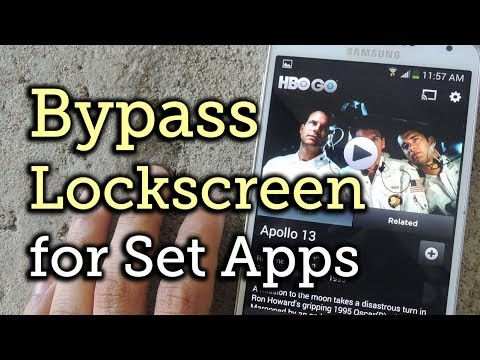 Bypass the Lock Screen to Access Your Favorite Apps Quicker - Samsung Galaxy Note 3 [How-To]