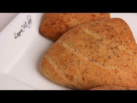 Homemade Focaccia Rolls Recipe - Laura Vitale - Laura in the Kitchen Episode 293