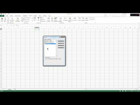 How to install the Solver Add-In in Excel