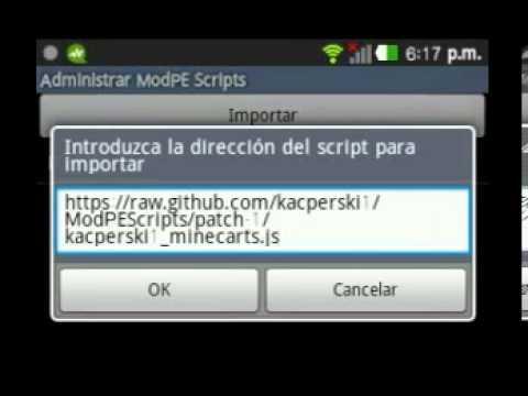 ScriptMod Minecarts para minecraft pe 0.7.5