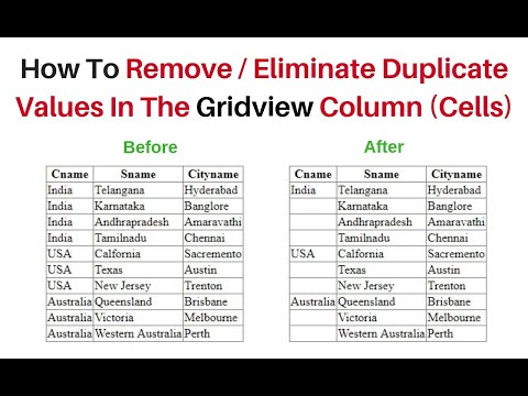 remove eliminate duplicate values from column in Gridview cells c#4.6