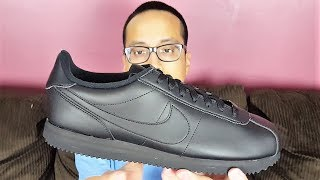 fdf071d21173f6 Nike Cortez Basic Leather Triple Black Review!