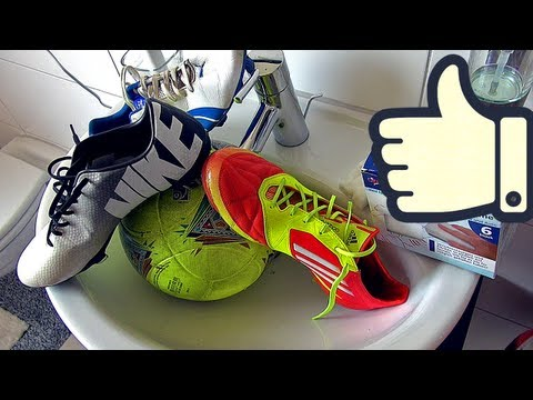 How To Clean Soccer Cleats & Footballs by freekickerz