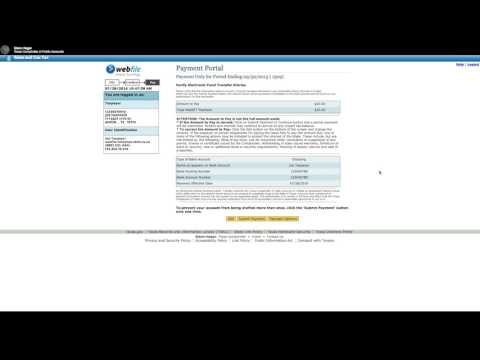 How to Make an Electronic Check Payment in Webfile [Official]
