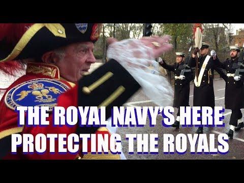 CHRnews - The Navy's Here! Guarding Buckingham Palace