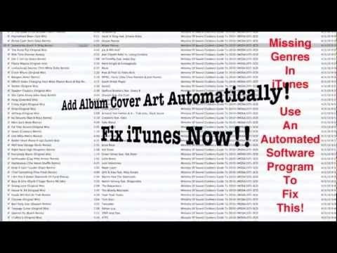 Add Album Cover Artwork In iTunes Automatically - Fix iTunes Library!!!