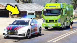 Polisi Mengawal Truk Cabe Driver Polwan - Grand theft auto v