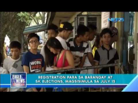 Applications for registration for Barangay, SK elections set on July 15-31