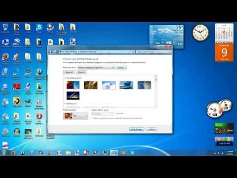 How to Make Your Background a Slideshow Using Windows 7