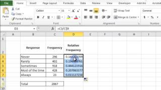 Relative Frequency In Excel 2010