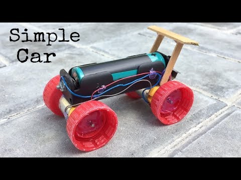 How to Make a Mini Electric Powered Car - Very Simple to Build - Amazing DIY Toy