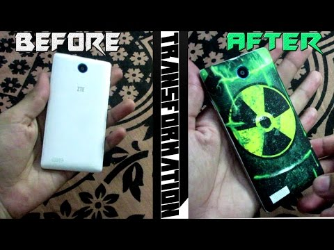 How to Change mobile back cover into your favorite color and design at home DIY