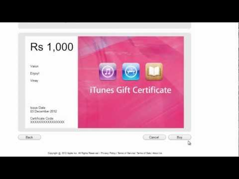 Purchase, Redeem iTunes Gift Card in iTunes India Store