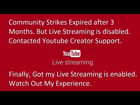 YouTube Live Streaming Disabled!! How to Email Youtube Creator Support?