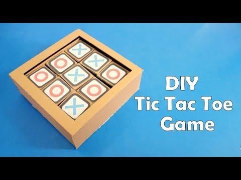 How to Make a Cardboard Tic Tac Toe Game at Home - DIY