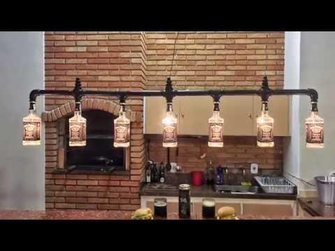 Lustre Industrial Jack Daniel's Bottles Industrial Pendant Light - SK