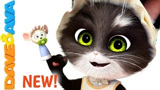😺 Finger Family Song for Toddlers | Nursery Rhymes and Children's Songs from Dave and Ava 😺