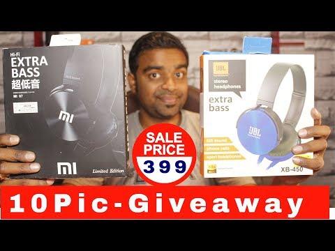 ₹399 Xiaomi & JBL Headphones Giveaway -  10 Winner - Unboxing & Review