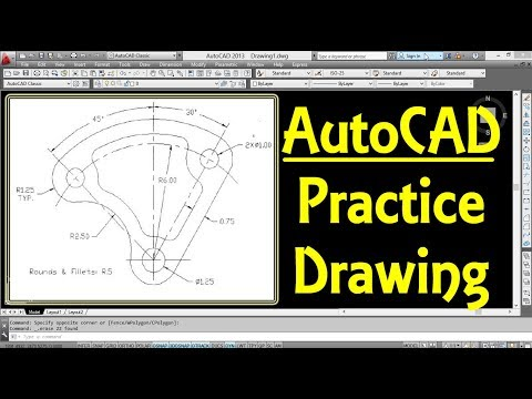 AutoCAD 2D Practice Drawing for Beginners 1   Engineer AutoCAD Tutorials   AutoCAD Tips and Tricks