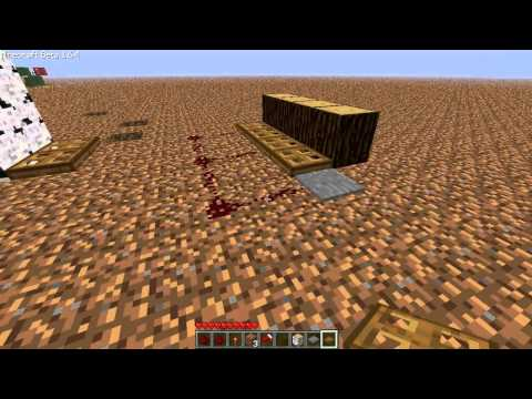 How to Make Trap Doors - Minecraft Beta 1.6.4