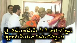 Karnataka CM Kumara Swamy meets AP CM YS Jagan in Delhi l Swamy says sorry to P.A l Tollywood Book