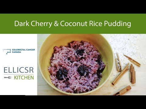 Dark Cherry and Coconut Rice Pudding