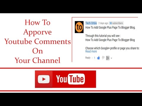 How To Approve Youtube Comments On Your Channel