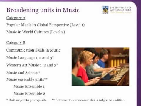 UWA Bachelor of Arts: broadening units