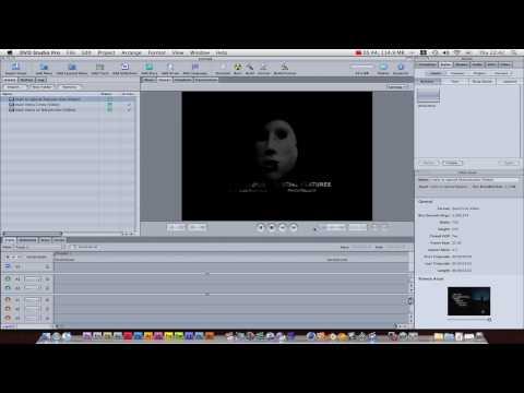 Apple DVD Studio Pro Tutorial part 1: creating menus, links and more!