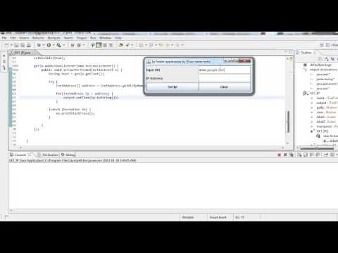 How to get the IP of a website JAVA SOURCE PROVIDED