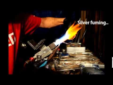 Silver fumed boro pipe process.