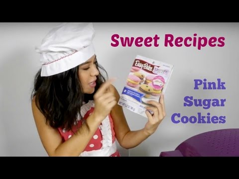 Pink sugar cookies. Easy recipes for kids.