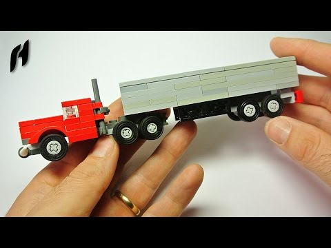 How to Build a Lego Truck with Trailer (MOC)