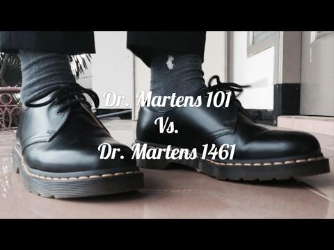 Dr. Martens 101 Boots VS Dr. Martens 1461 On Feet