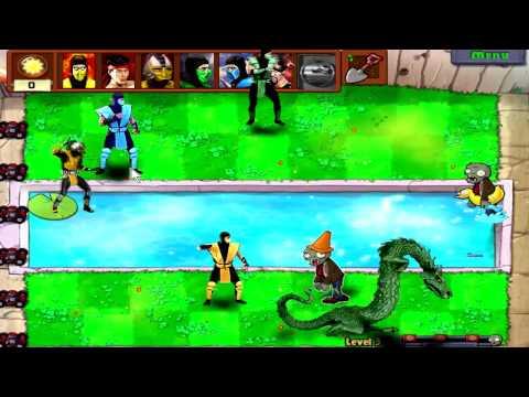Mortal kombat vs Plants vs Zombies !