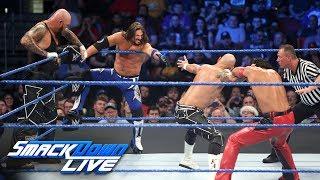 AJ Styles & Gallows & Anderson vs. Shinsuke Nakamura & Rusev Day: SmackDown LIVE, April 24, 2018