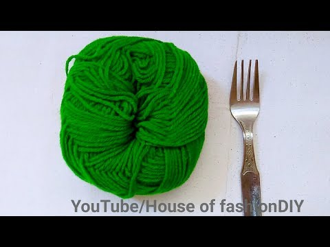 Making Of Ear Stud Using Fork||Thread Earrings At Home..!