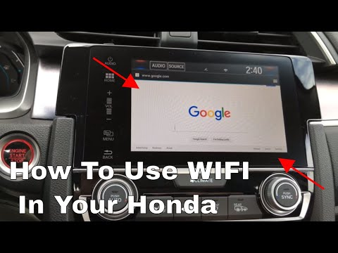 How to use the wifi in your Honda