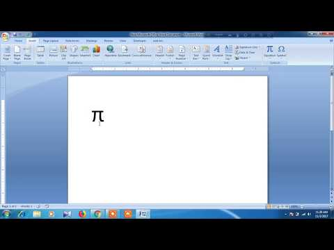 How to type PI symbol in microsoft word