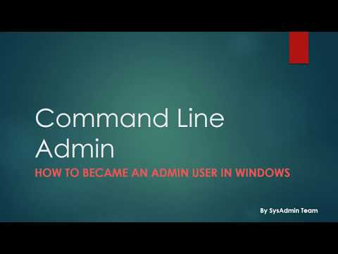 How to create an admin user using cmd in window7 winodws8 windows10