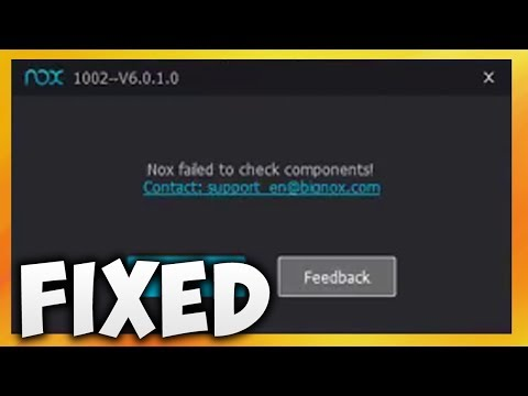 How To Fix Nox Failed To Check Components Error In Nox App Player (Easy Solution)