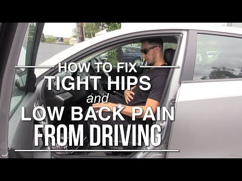 How to fix tight hips and low back pain from driving