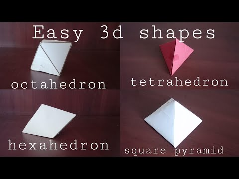 easy paper 3d shapes