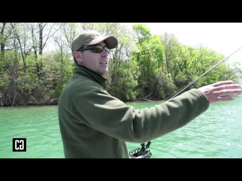 How to locate early season smallmouth bass in a river system