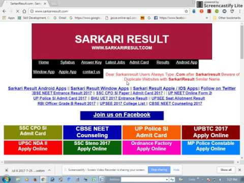 APPLY GOVERNMENT JOBS AND PRINT OUT ADMIT CARD