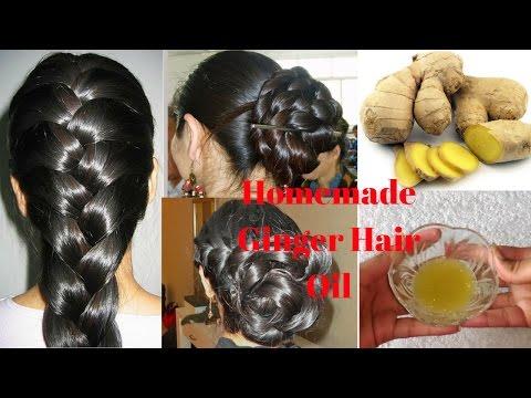 Homemade Ginger Hair Oil For Long, Healthy, Shiny, Smooth & Dandruff Free Hair